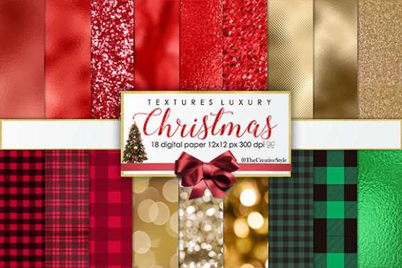 Print on Demand: Christmas Luxury Graphic Textures By thecreativestyle