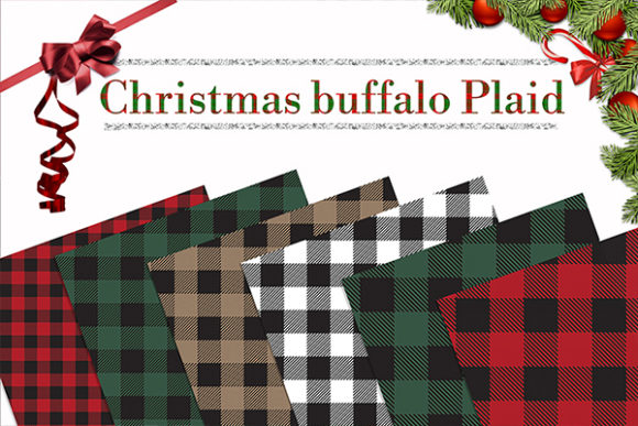 Download Free Buffalo Plaid Christmas Graphic By Therosemind Creative Fabrica for Cricut Explore, Silhouette and other cutting machines.