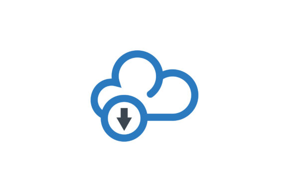 Download Free Cloud Download Vector Icon Graphic By Riduwan Molla Creative Fabrica for Cricut Explore, Silhouette and other cutting machines.