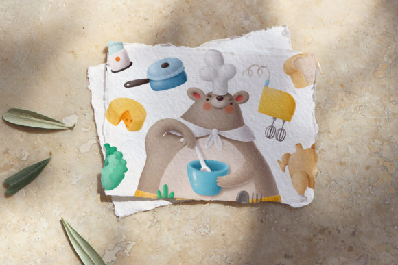 Print on Demand: Bears in the Kitchen Graphic Illustrations By Architekt_AT - Image 6