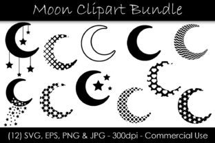 Moon Bundle Graphic Objects By GJSArt 1