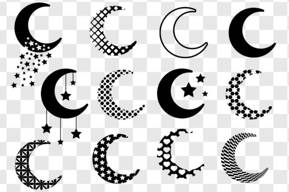 Moon SVG Bundle Graphic Objects By GJSArt - Image 2