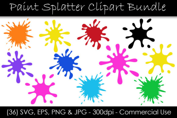 Paint Splatter Bundle Graphic Objects By GJSArt