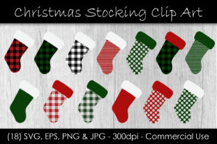 Christmas Stocking Buffalo Check Graphic Graphic Illustrations By GJSArt