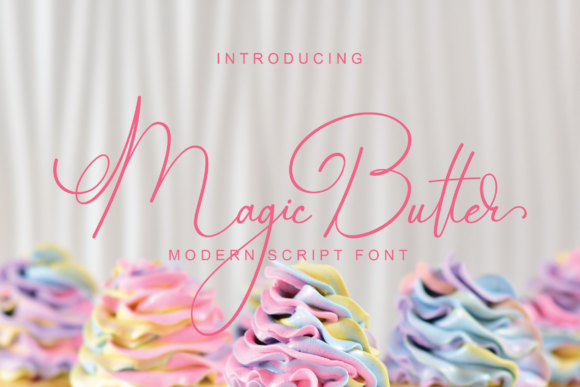 Print on Demand: Magic Butter Script & Handwritten Font By Tonimouse