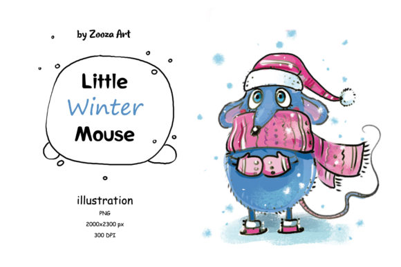 Print on Demand: Little Mouse - Illustration Graphic Illustrations By Zooza Art