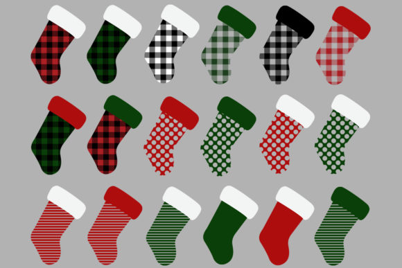 Christmas Stocking Buffalo Check Graphic Graphic Illustrations By GJSArt - Image 2