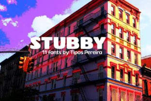 Print on Demand: Stubby Display Font By Tipos Pereira