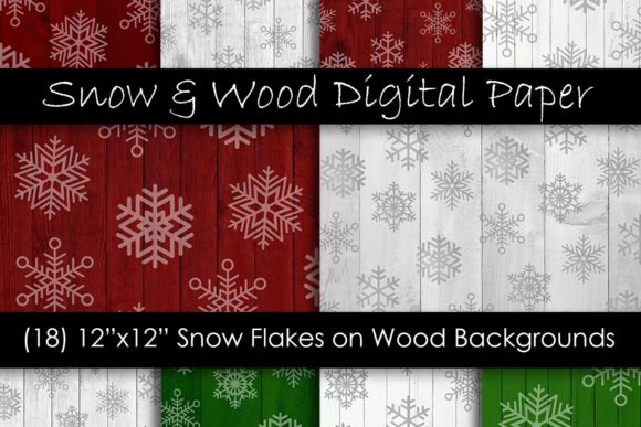 Download Free Christmas Snowflake Wood Digital Paper Graphic By Gjsart for Cricut Explore, Silhouette and other cutting machines.