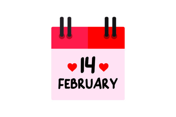 Download Free February 14th Calendar Icon Svg Cut File By Creative Fabrica for Cricut Explore, Silhouette and other cutting machines.