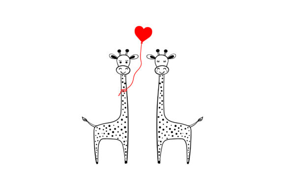Lover Giraffes Valentine's Day Craft Cut File By Creative Fabrica Crafts - Image 1