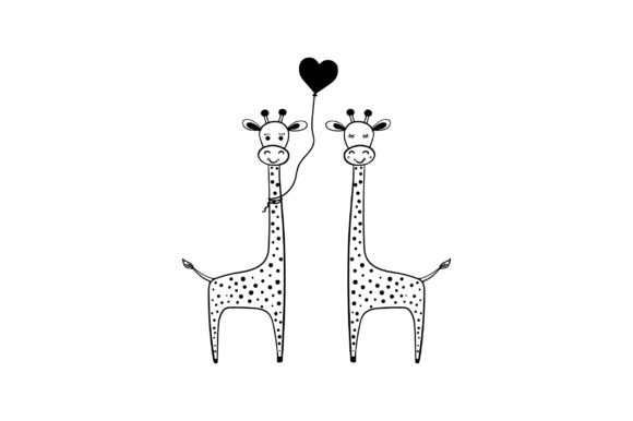 Lover Giraffes Valentine's Day Craft Cut File By Creative Fabrica Crafts - Image 2
