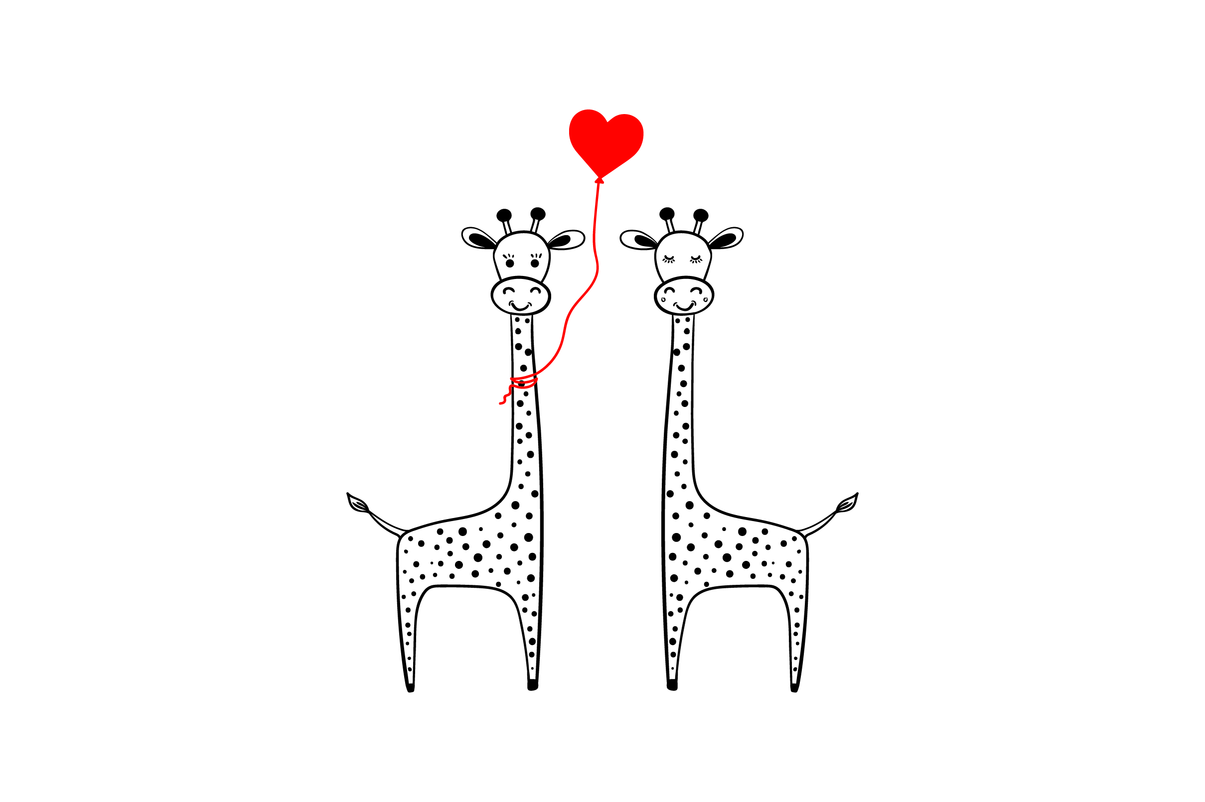 Lover Giraffes Svg Cut File By Creative Fabrica Crafts