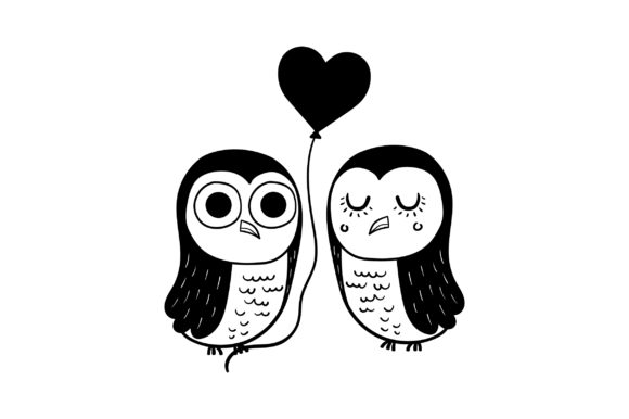 Lover Owls Valentine's Day Craft Cut File By Creative Fabrica Crafts - Image 2