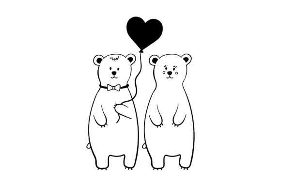 Lover Polar Bears Valentine's Day Craft Cut File By Creative Fabrica Crafts - Image 2
