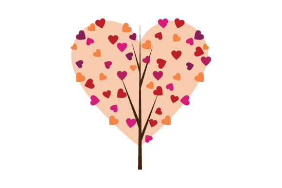 Tree with Heart Foliage Valentine's Day Craft Cut File By Creative Fabrica Crafts