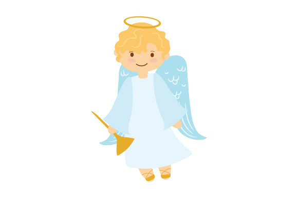 Download Free Cute Christmas Angel Svg Cut File By Creative Fabrica Crafts Creative Fabrica for Cricut Explore, Silhouette and other cutting machines.