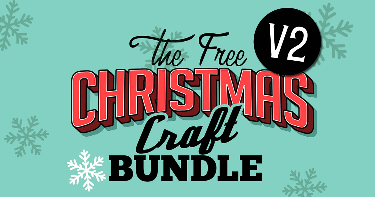 Download Free Free Christmas Craft Bundle V2 Bundle Creative Fabrica for Cricut Explore, Silhouette and other cutting machines.