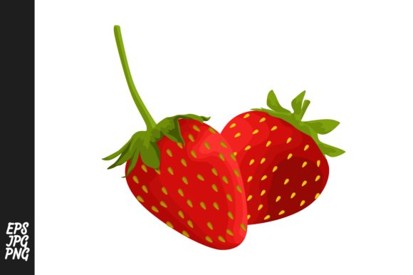 Print on Demand: Strawberry Fruit Vector   Graphic Crafts By Arief Sapta Adjie - Image 1