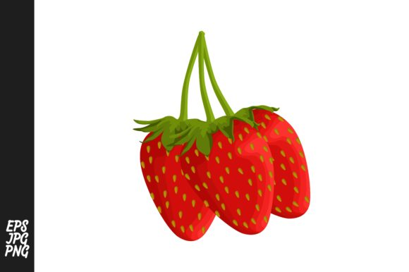 Print on Demand: Strawberry Fruit Vector PNG Graphic Crafts By Arief Sapta Adjie