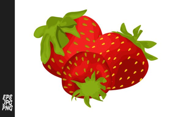 Print on Demand: Strawberry Fruit Vector PNG Bundle Graphic Crafts By Arief Sapta Adjie - Image 11