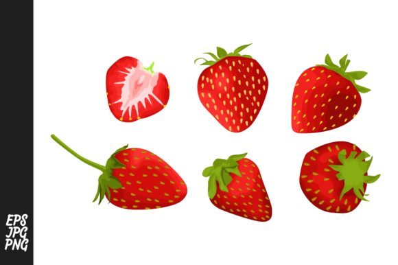 Print on Demand: Strawberry Fruit Vector Bundle Graphic Crafts By Arief Sapta Adjie - Image 1
