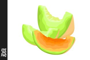 Download Free Melon Fruit Vector Png Graphic By Arief Sapta Adjie Creative for Cricut Explore, Silhouette and other cutting machines.
