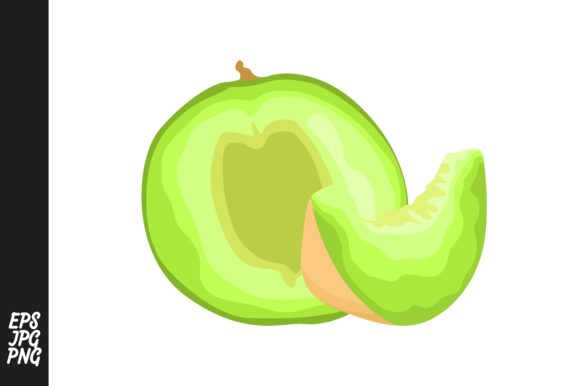 Print on Demand: Melon Fruit Vector PNG Gráfico Crafts Por Arief Sapta Adjie
