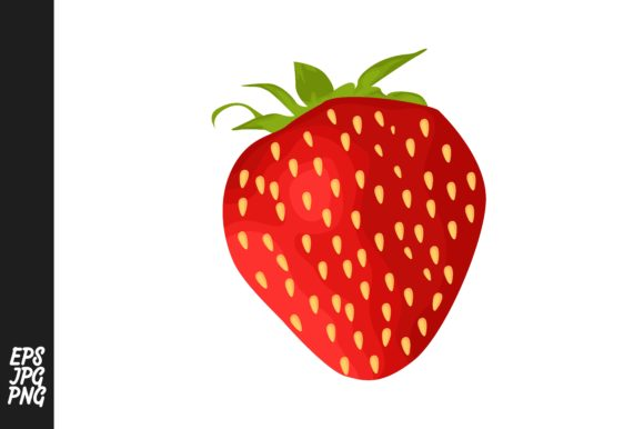 Print on Demand: Strawberry Fruit Vector PNG Graphic Crafts By Arief Sapta Adjie - Image 1