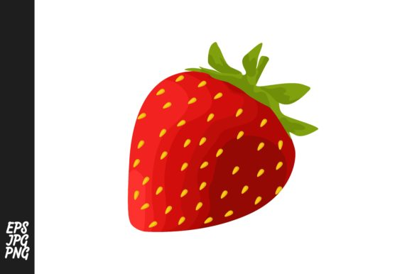 Print on Demand: Strawberry Fruit Vector PNG Bundle Graphic Crafts By Arief Sapta Adjie - Image 4