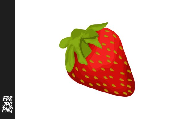 Print on Demand: Strawberry Fruit Vector PNG Gráfico Crafts Por Arief Sapta Adjie