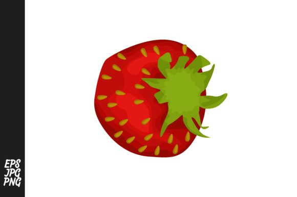 Print on Demand: Strawberry Fruit Vector PNG Bundle Graphic Crafts By Arief Sapta Adjie - Image 7
