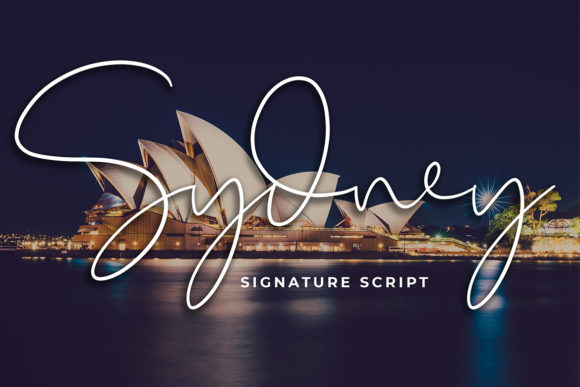 Print on Demand: Sydney Script & Handwritten Font By formatikastd