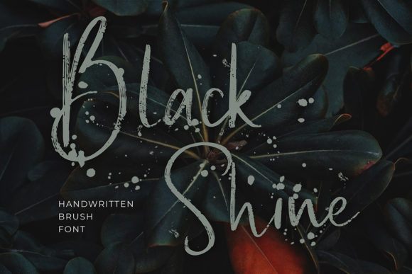 Print on Demand: Black Shine Script & Handwritten Font By formatikastd