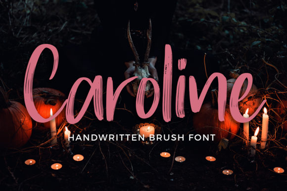 Print on Demand: Caroline Script & Handwritten Font By formatikastd