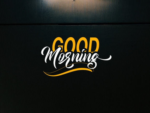 Download Free Good Morning Font By Khaiuns Creative Fabrica for Cricut Explore, Silhouette and other cutting machines.