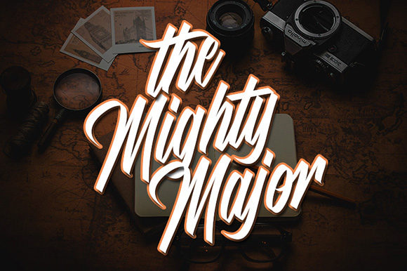 Print on Demand: The Mighty Major Script & Handwritten Font By Justlett - Image 1