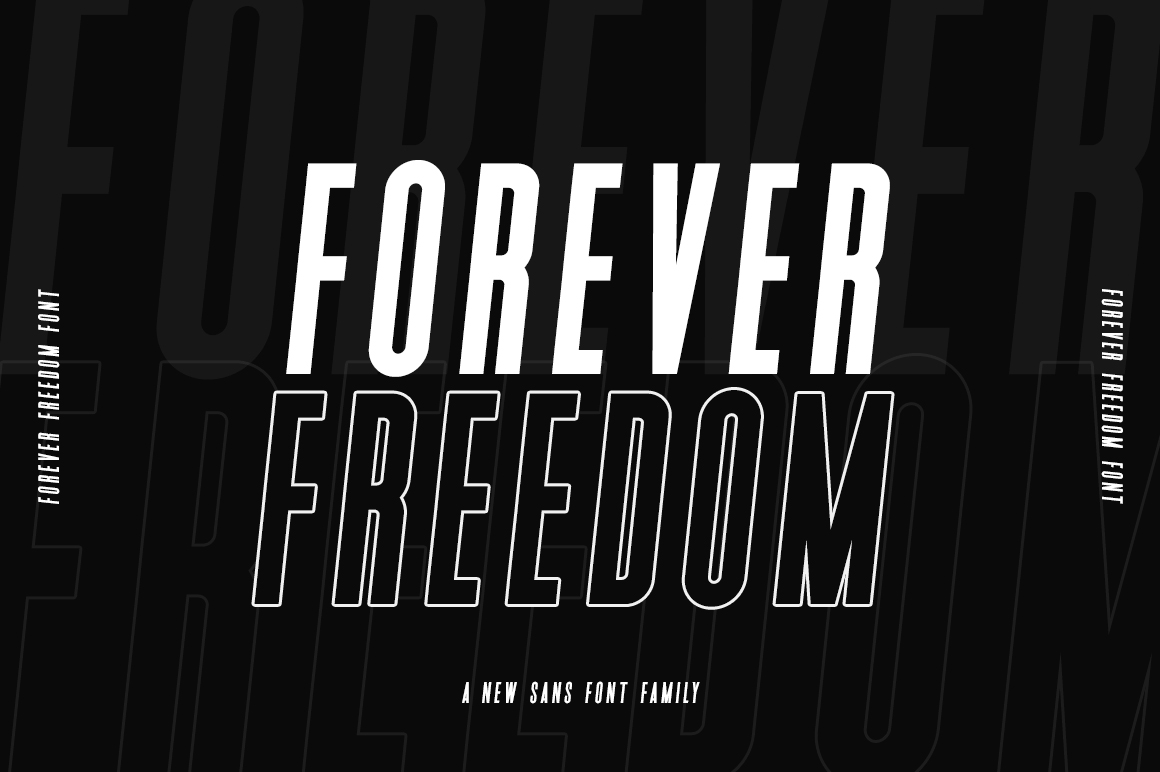 Download Free Forever Freedom Font By Salt Pepper Designs Creative Fabrica for Cricut Explore, Silhouette and other cutting machines.