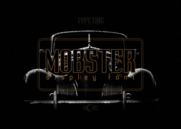 Print on Demand: Mobster Display Font By Typeting Studio