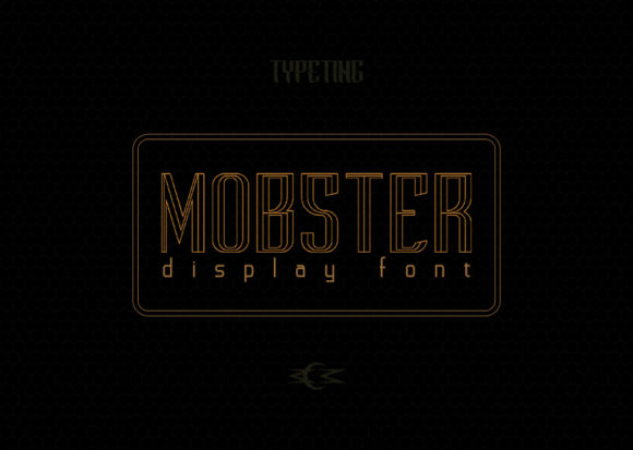 Print on Demand: Mobster Display Font By Typeting Studio - Image 2