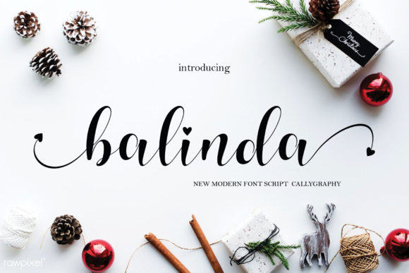 Print on Demand: Balinda Script & Handwritten Font By MYdesign - Image 1