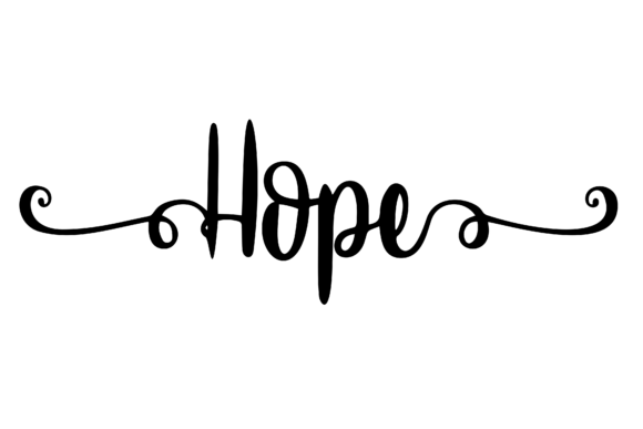 Download Free Hope Beautiful Word Art Graphic By Am Digital Designs Creative for Cricut Explore, Silhouette and other cutting machines.