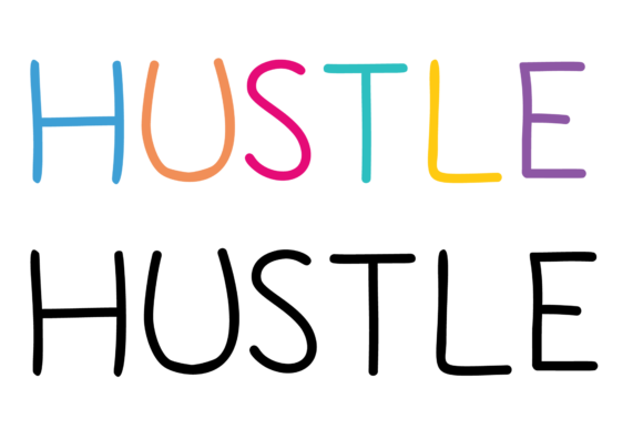 Download Free Hustle Word Art Graphic By Am Digital Designs Creative Fabrica for Cricut Explore, Silhouette and other cutting machines.