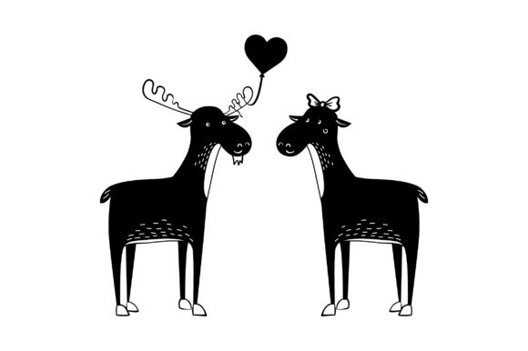 Lover Mooses Valentine's Day Craft Cut File By Creative Fabrica Crafts - Image 2