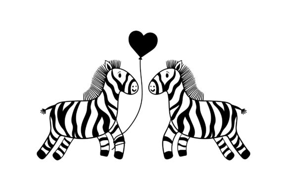Lover Zebras Valentine's Day Craft Cut File By Creative Fabrica Crafts - Image 2