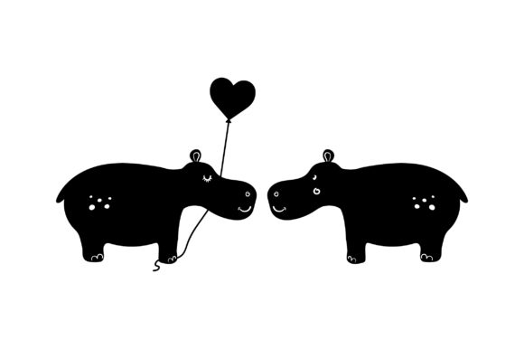 Lover Hippos Valentine's Day Craft Cut File By Creative Fabrica Crafts - Image 2