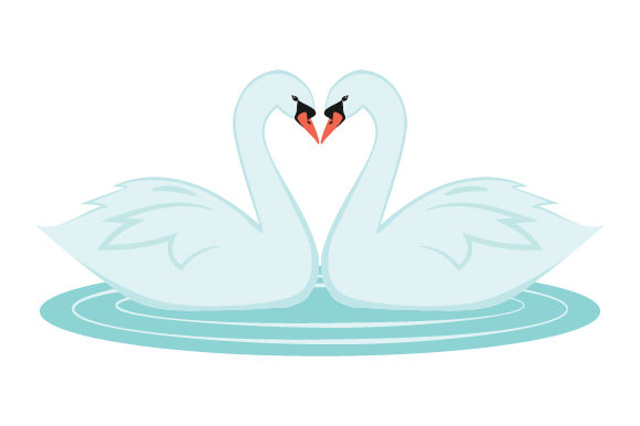 Download Free Swan Heart Svg Cut File By Creative Fabrica Crafts Creative for Cricut Explore, Silhouette and other cutting machines.