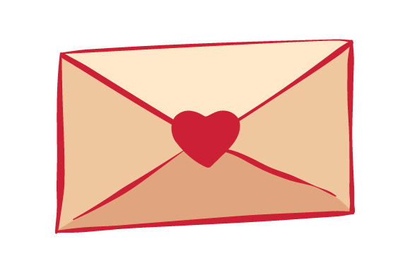 Download Free Envelope With Heart Svg Plotterdatei Von Creative Fabrica Crafts for Cricut Explore, Silhouette and other cutting machines.