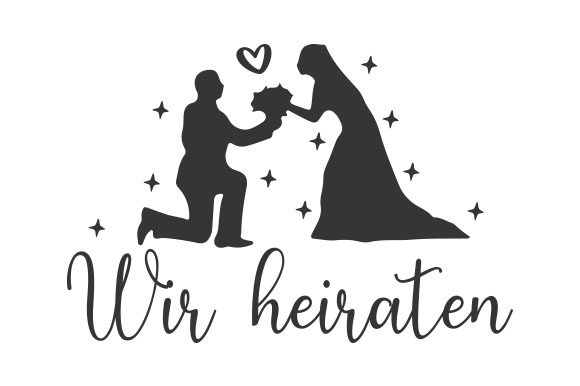 Wir Heiraten Germany Craft Cut File By Creative Fabrica Crafts - Image 1