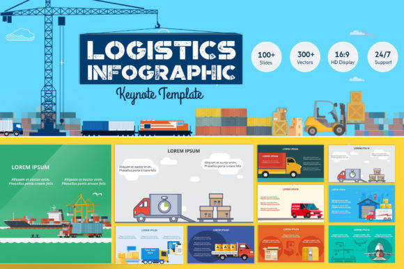 Logistics Infographic Keynote Graphic Presentation Templates By renure